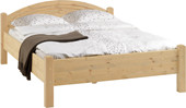 Bett SAMI 140x200 cm Kiefernholz in natur lackiert
