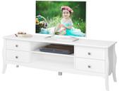 TV-Lowboard BAROQUE aus MDF in weiß, Breite 160 cm