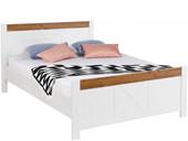 Bett JULIA 180x200 cm im Landhausstil in weiß-eichefarben