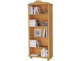 Bücherregal JASMIN Landhausstil Kiefer massiv gebeizt geölt