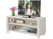 TV Lowboard MACON aus Kiefer massiv  in weiß lasiert