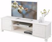 2-trg. TV-Lowboard MACON aus Kiefer massiv in weiß
