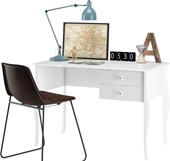 Schreibtisch CHARMING aus MDF in weiß 2 Schubladen