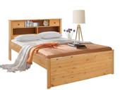 Bett SANDRA 140 cm aus Kiefer massiv in gebeizt geölt