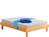 Bett OCTAVE 140x190 aus Kiefer massiv honigfarben lackiert