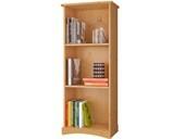 Bücherregal YORK aus Kiefer massiv in gebeizt geölt