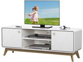 TV Lowboard CARMEN im Skandinavischen Design in weiß/natur