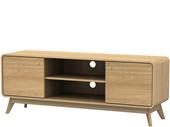 2-trg. Lowboard CARMEN in eiche/eiche, Breite 140 cm