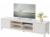 2-trg. TV Lowboard KADIN aus Kiefer massiv in weiß, 180 cm