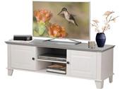 TV Lowboard JOMA aus Kiefer massiv in weiß und grau