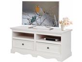 Kleine TV-Bank MELIA aus Kiefer massiv in weiß
