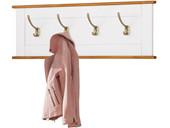 Wandgarderobe COZETTE Breite 90 cm weiß und honig