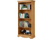 Bücherregal MELIA 180 cm aus Kiefer massiv in gebeizt geölt