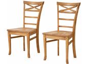 2er Set Stühle VENEDIG aus Massivholz in gebeizt geölt