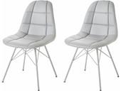 Modernes 2er-Set Stühle SINEAD aus PU in grau