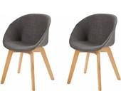 2er-Set Stühle BONO mit Microfaser in anthrazit grau