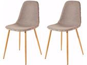 2er-Set Stühle ASTARIA in Cappuccino Metallbeinen