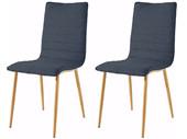 2er Set Stühle PELMO in anthrazit