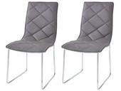 2er-Set Stühle DARIUS aus Kunstleder in cappucino