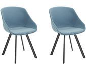 2er-Set Schalenstühle BOMI, Webstoff in jeans blau