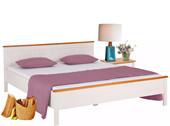 Bett PULLMANN 140x200 aus Kiefer massiv in weiß-honig