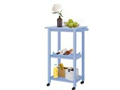 Küchenwagen ALDO aus Massivholz in hellblau