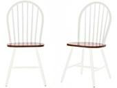 2er Set Stühle MAGGIE aus Massivholz in honig und weiß
