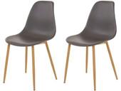 2er-Set Stuhl MIANA Schalenstuhl in anthrazit