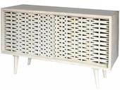 Sideboard ROSIE 160 cm Breite aus Mangoholz weiß gewischt