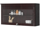 1-trg. Küchenhängeschrank TILO aus Kiefer in havana, Glastür
