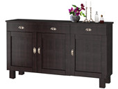 3-trg. Sideboard TILO aus Kiefer massiv in havana