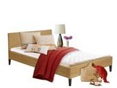 Bett JUTTA 180 cm aus Rattan in naturfarbe