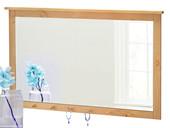 Spiegel BETTINA mit 6 Haken aus Kiefer in gebeizt geölt