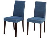2er-Set Esszimmerstühle LUCAS mit Jeansstoff-Bezug