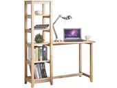 Schreibtisch AILEEN mit 5 Fächer Regal in natur