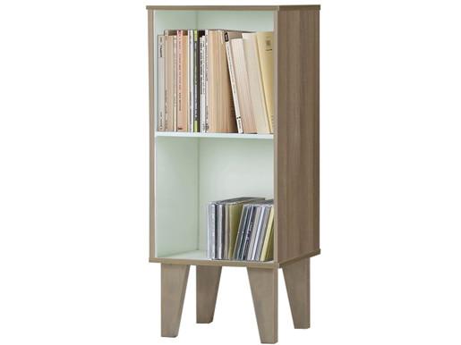 Kleines Bücherregal ROBY 2 Fächer MDF in weiß-Birke
