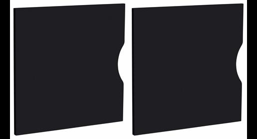 2er Set Türen KNOX für KNOX-Regale in schwarz
