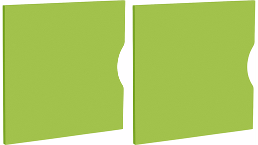 2er Set Tür KNOX aus Holzwerkstoff in grün