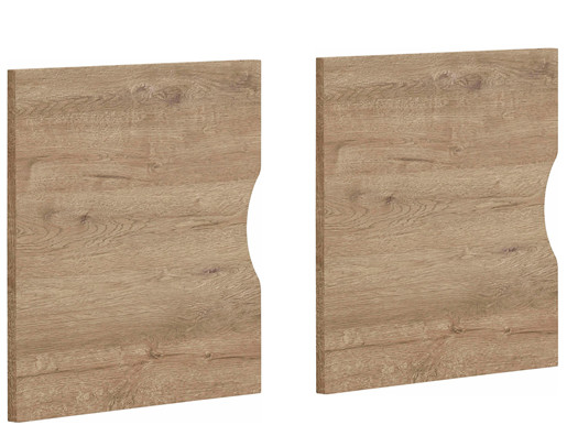 2er Set Tür KNOX aus Holzwerkstoff in eiche
