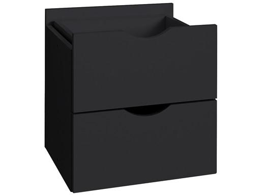 2 Schubladen KNOX aus Holzwerkstoff in schwarz