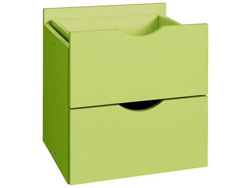 2 Schubladen KNOX aus Holzwerkstoff in grün