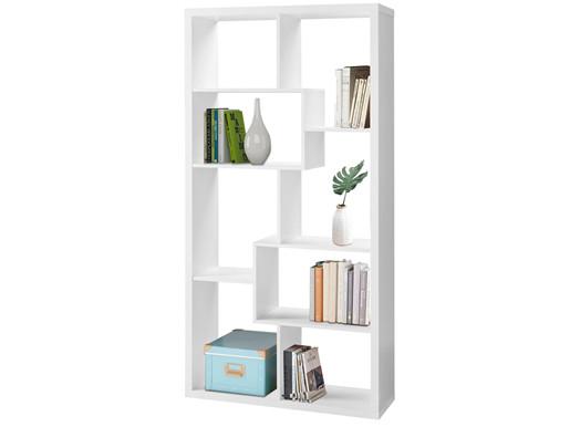 Bücherregal RENA mit 8 Fächern in weiß, Höhe 180 cm