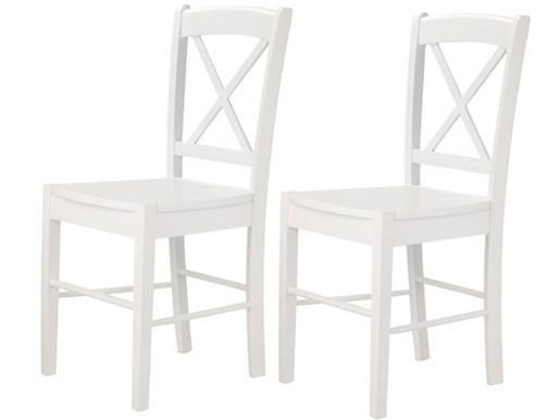 2er Set Stühle TRENDY I aus MDF in weiß