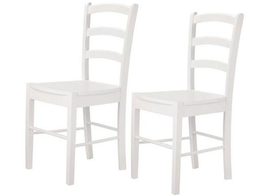 2er Set Stühle TRENDY II aus MDF in weiß