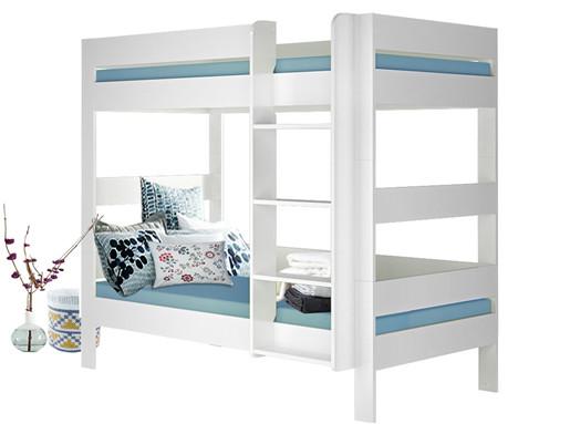 Doppelstockbett MINOS für Kinder aus MDF in weiß