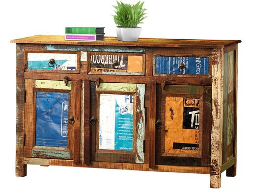 Indisches Sideboard COSTARICA aus Massivholz in mehrfarbig