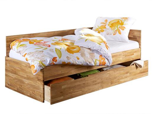 Bett CAMELIA 90x200 cm aus Eiche massiv, geölt