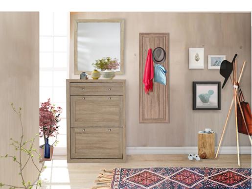 garderoben set jamy vi aus fsc holz in sonoma eiche. Black Bedroom Furniture Sets. Home Design Ideas