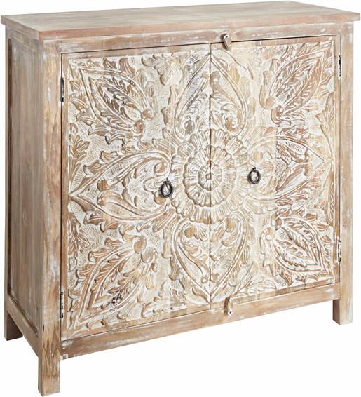 Dekorativer Schrank VIVIAN ausMagoholz, natur gewischt