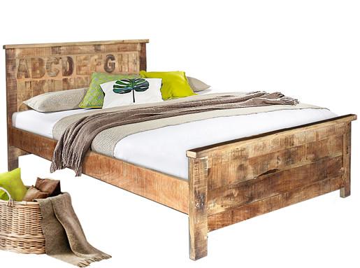 Bett ABC 180 x 200 cm aus Mangoholz massiv